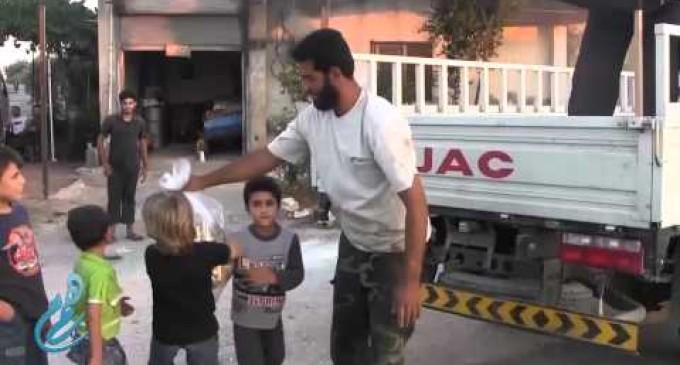Syria Feature: PR War — Jabhat al-Nusra Gives Candy To Children