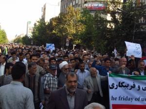 iran US protest hegemony satan