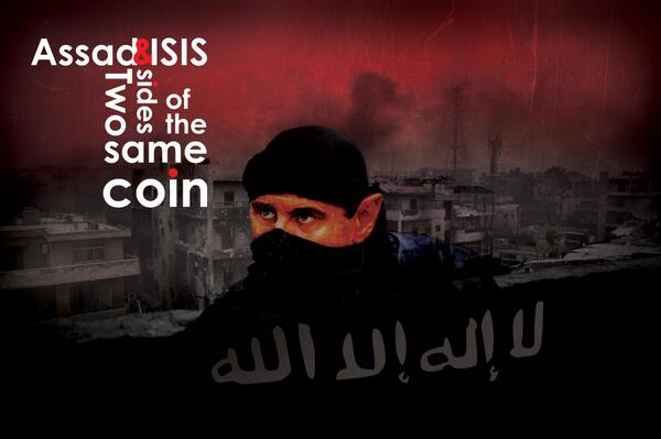 Graphic of Assad and ISIS created by FSA