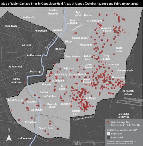 ALEPPO DAMAGE MAP