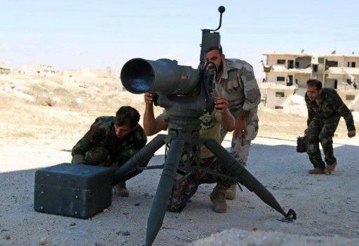 FREE SYRIAN ARMY TOW MISSILE