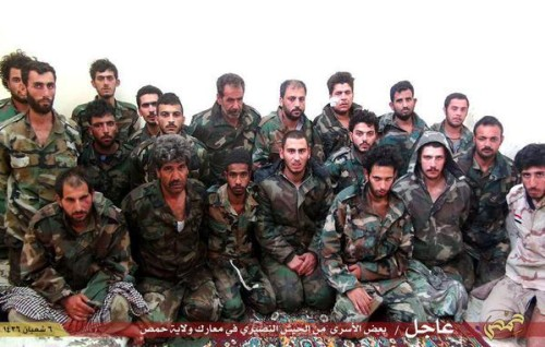 CAPTURED SYRIA SOLDIERS PALMYRA