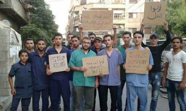 DOCTORS DOUMA PROTESTS