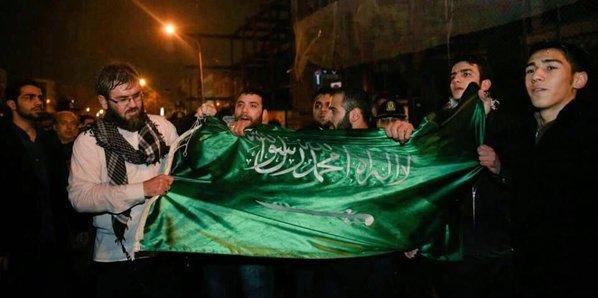 SAUDI CONSULATE MASHHAD PROTEST