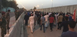 Iraq Feature: Protesters Leave Green Zone But Say They May Return