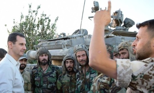 Syria Feature: Assad's PR Visit to Troops Near Damascus