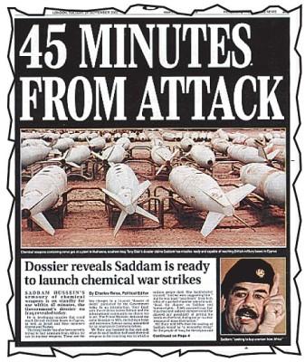 BRITAIN 45 MINUTES IRAQ