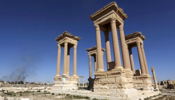 FILE PHOTO A view of  the Tetrapylon in the ancient city of Palmyra
