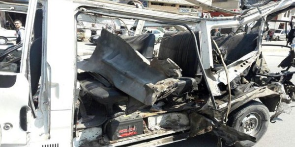 HOMS BUS BOMBED