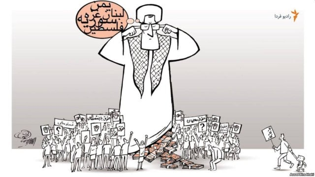 KHAMENEI PROTEST CARTOON 12-17