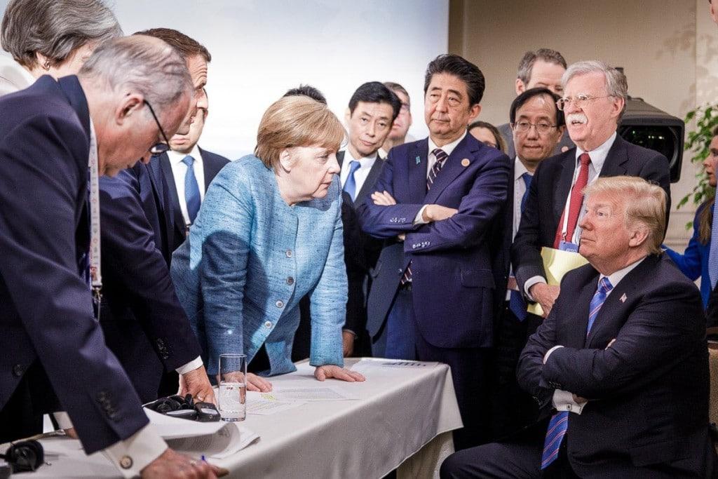 MERKEL CONFRONTS TRUMP G7