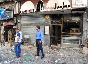 Damage in Marjeh Square, Damascus (SANA)