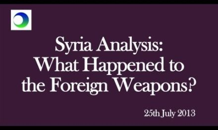 Syria Analysis: So What Happened to US Weapons for Insurgency?