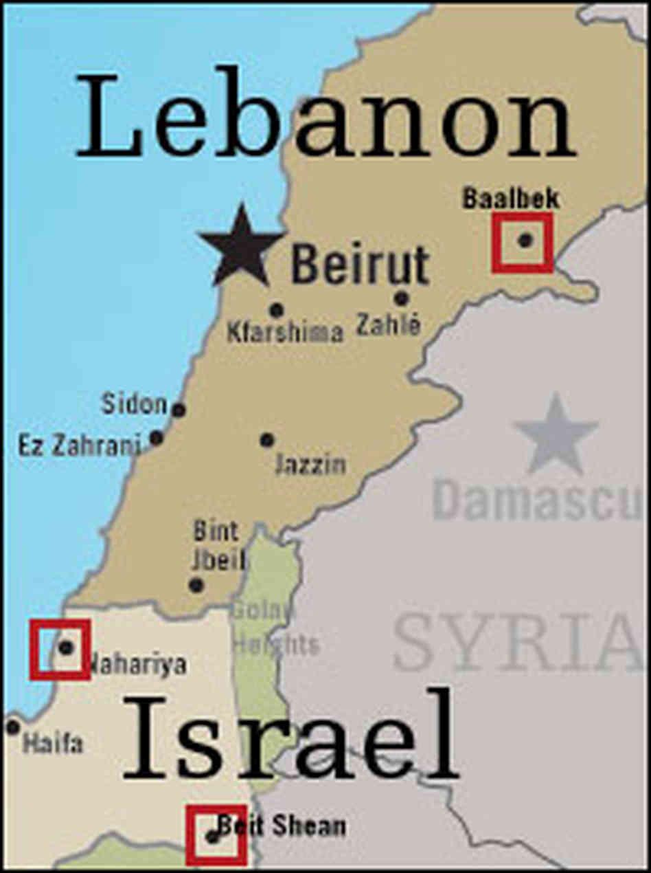 ISRAEL LEBANON MAP EA WorldView