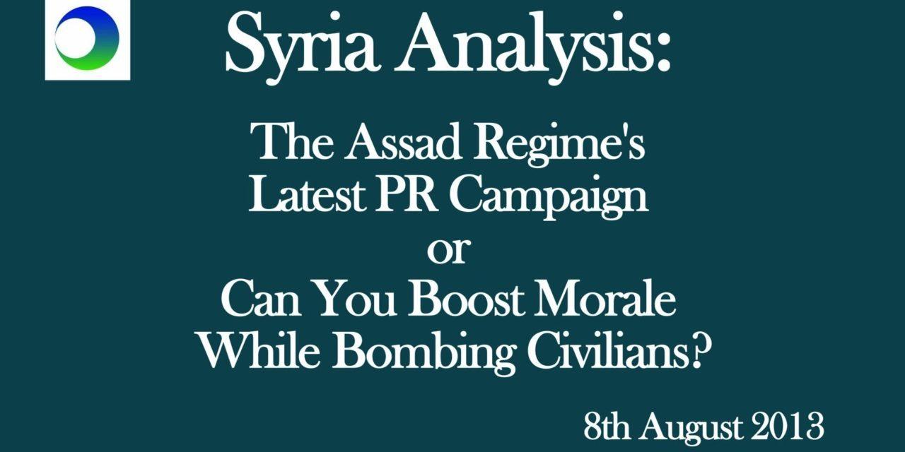 Syria Video Analysis: The Assad Regime's Latest PR Campaign
