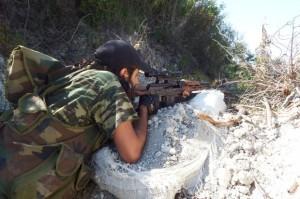 SYRIA INSURGENT SNIPER --- USED 14-09-13