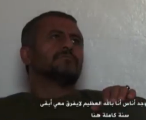 Screenshot of man AJ Arabic identify as Syrian soldier asking Iranians for holiday