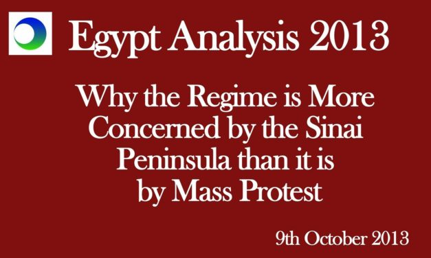 Egypt Video Analysis: Why Regime is Concerned About Sinai Peninsula, Not Mass Protest