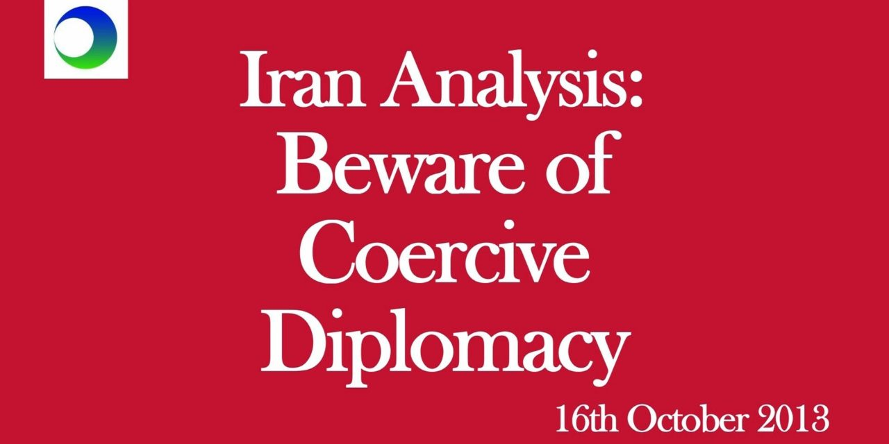 """Iran Video Analysis: Beware of Calls for American """"Coercive Diplomacy"""""""