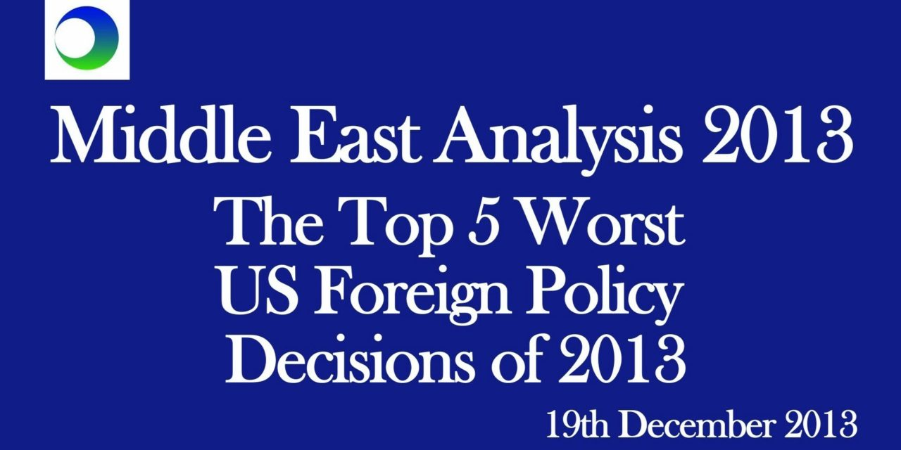 Obama's 5 Worst Decisions of 2013