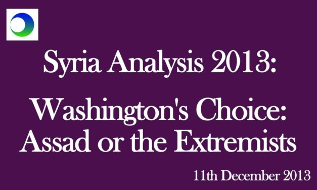 """New US Narrative: """"Assad or The Extremists"""""""