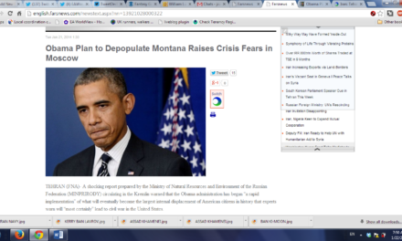 "Iran: Tehran's Latest Scoop ""Obama Plans to Depopulate Montana — Civil War a Certainty"""