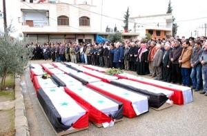 SYRIA HAMA BOMB VICTIMS