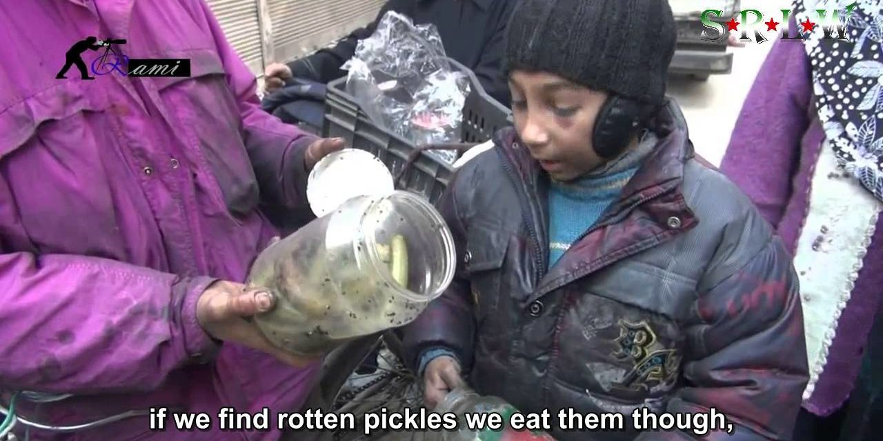 "Syria: A Child's Message from Yarmouk ""We Search Garbage for Food"""