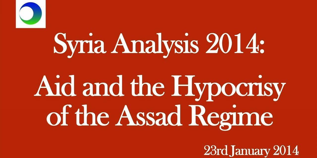 Syria: Aid, Assad's Hypocrisy, & Geneva II