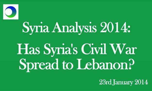Syria: Will Civil War Spread to Lebanon?