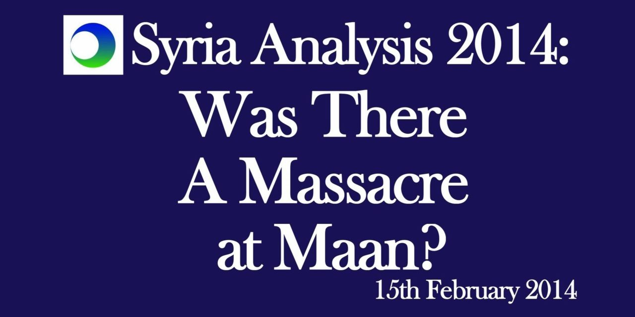 Syria: Did Insurgents Commit Massacre at Ma'an?
