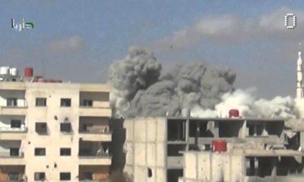 Syria Video Feature: Assad's Barrel Bombs Fall on Darayya