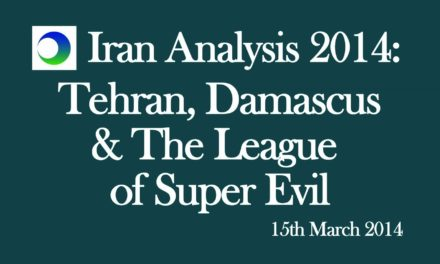 Iran Video Analysis: Tehran, Syria, & the League of Super Evil