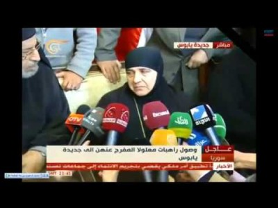 Syria Daily, Mar 11: Maaloula Nuns Arrive in Damascus as 153 Women Freed