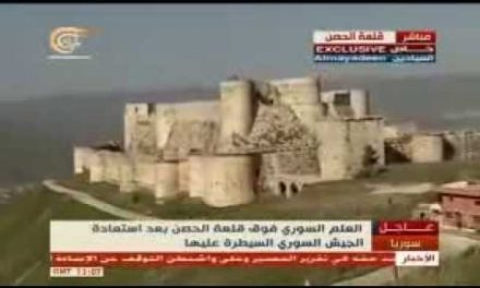 """Syria Daily, Mar 21: Regime Captures 12th-Century """"Krak des Chevaliers"""" Castle"""