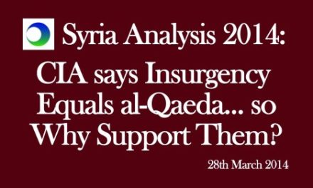 Syria Video Analysis: CIA Says Insurgency = Al Qa'eda