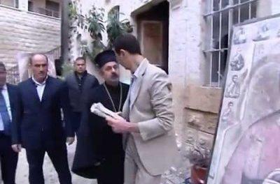"""Syria: Assad Celebrates Easter in """"Liberated"""" Maaloula"""