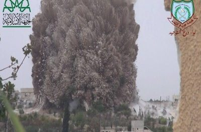 Syria: Insurgents Carry Out 40-Ton Explosion in Idlib Province