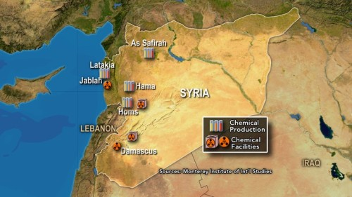 Syria Feature: Revealed —Where Assad's Last Chemical Weapons May Be Stored