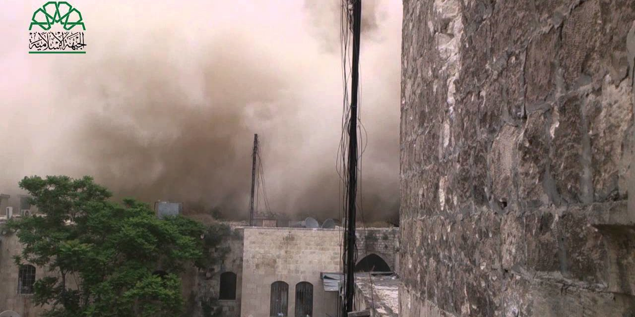 Syria: Insurgents Blow Up Hotel Near Aleppo Citadel, Claim 50+ Syrian Forces Killed