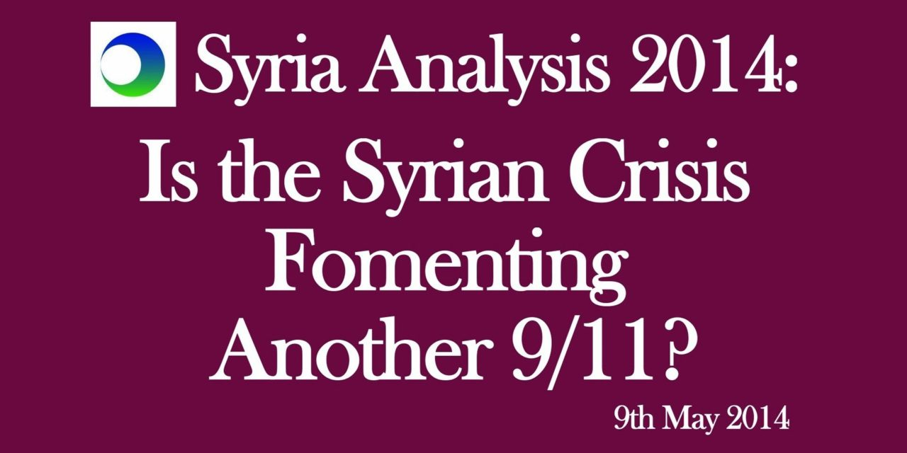 Syria Video Analysis How To Turn The Conflict Into Next 9 11
