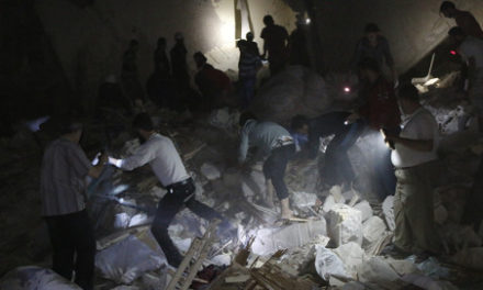 Syria 1st-Hand: A Barrel-Bombing in Aleppo