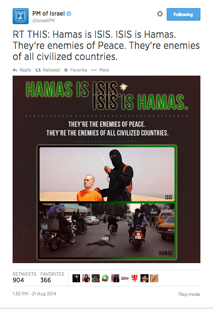 NETANYAHU HAMAS FOLEY TWEET
