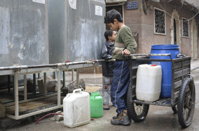 """Syria Daily, Jan 13: """"Regime Using Water as Tool of War"""" in Large Damascus Camp"""