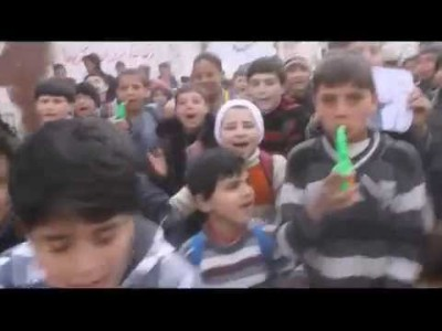 "Syria Video Feature: Children Demonstrate Against Hezbollah Leader ""Hassan Toot-Toot"""