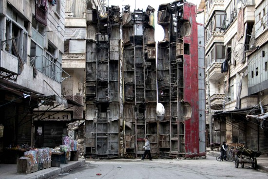 ALEPPO BUSES AS SHELTER