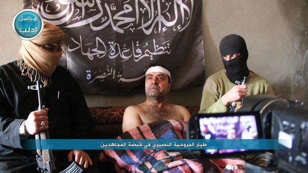 SYRIA CAPTURED PILOT JABHAT AL-NUSRA