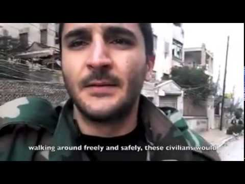 Syria Video Feature: A Syrian Soldier's Appeal on a Walk Through Aleppo