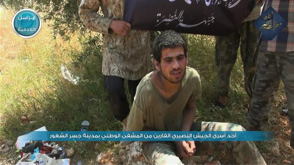 CAPTURED SYRIA SOLDIER JISR AL-SHUGHOUR