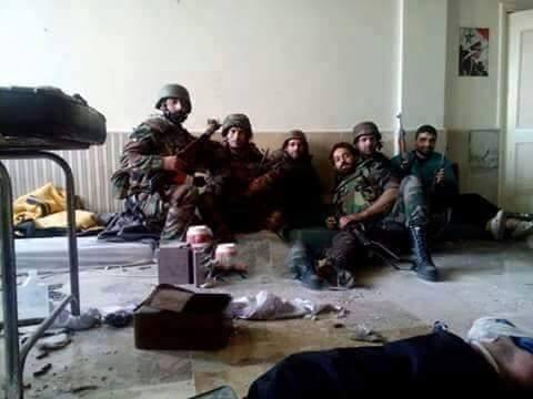 SYRIA TROOPS JISR HOSPITAL 2
